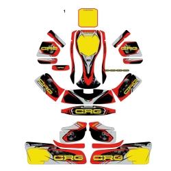 Kit adesivi CRG GOLD 2018 completo NA2